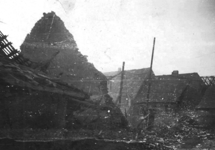 16th Grp  A destroyed German town