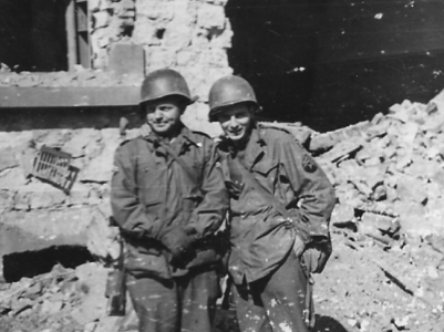 16th Grp  Whitt and Baker of HQ Company  Bitche  FR 1944