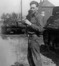 821st Robert P. Carlson with M10s at rear