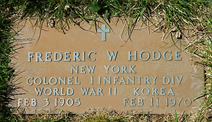 Frederic Hodge Grave Marker