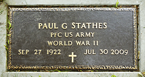 Paul G. Stathes grave marker