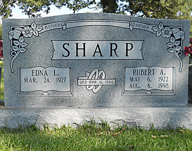 Rubert A.Sharp grave marker