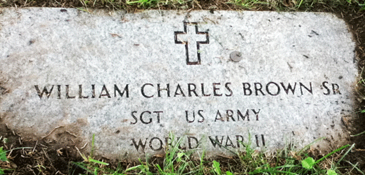 William C. Brown grave marker