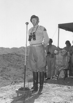 Patton-Speaking-at-Indio